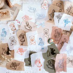 MUNBANG - 卡通木制印章