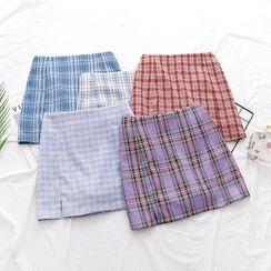 Firebird - Plaid Mini Fitted Skirt