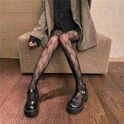 Karnel - Bow Fishnet Stockings