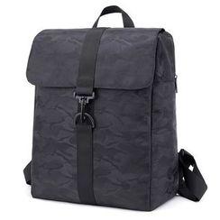 Golden Kelly - Flap Nylon Backpack