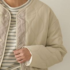 PPGIRL - Patch-Pocket Quilted Jacket