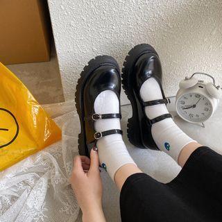 Snowflick - Platform Block Heel Mary Jane Pumps