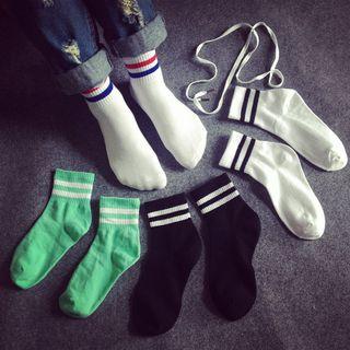 Sock Kingdom - 條紋邊襪