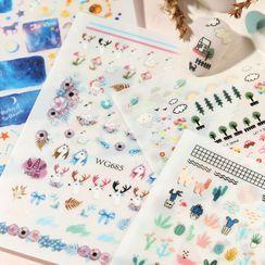 WGOMM - Print 3D Nail Art Stickers