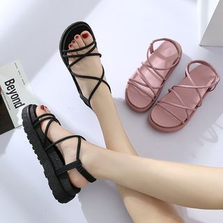 COCUNA - Faux Leather Strappy Sandals