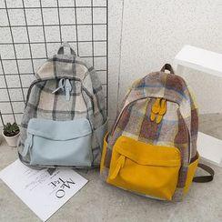 Rocktail - Plaid Canvas Backpack