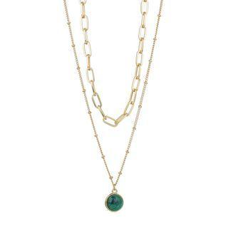 Terreau Kathy - Glaze Disc Pendant Layered Necklace