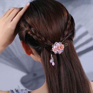 Gangnam - Retro Cloisonne Flower Hair Clip