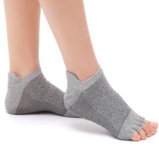 AUM - 云朵印花半趾瑜伽防滑袜子