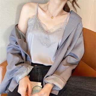Gwendolyn - Lace Trim Camisole Top