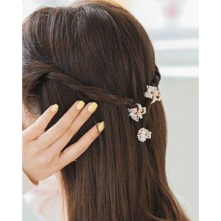 Miss21 Korea - Faux-Pearl Mini Hair Claw