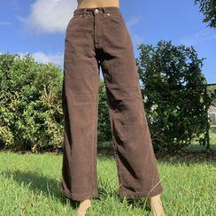 Honet - Corduroy Straight Leg Pants