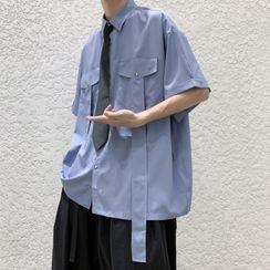 YERGO - 中袖拼接衬衫