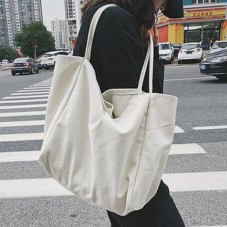 Youme(ユーミー) - Plain Canvas Tote Bag