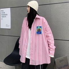 Ashlee - Oversized Long-Sleeve Striped Shirt