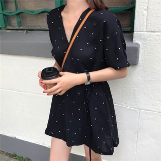 Rhames - Dotted Short-Sleeve Playsuit