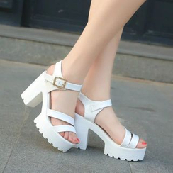 Raylove - Strappy Chunky Heel Sandals