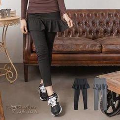 RingBear - Inset-Skirt Leggings