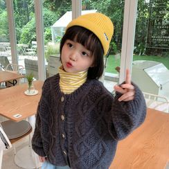 Abao - Kids Buttoned Cable Knit Cardigan