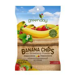 Greenday - Banana Chips with Strawberry Powder 20g