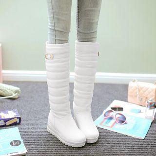 Udin - 厚底内增高夹层高身靴