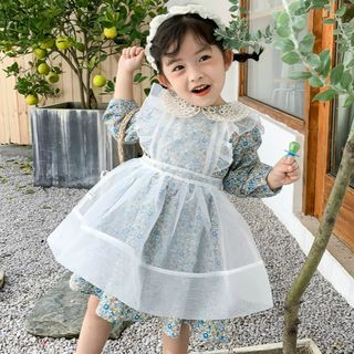 Cuckoo - Kids Floral Print Long-Sleeve Mini A-Line Dress