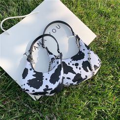 Cipres - Chain Strap Cow Print Crossbody Bag