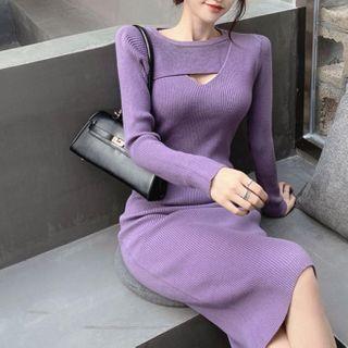 YGONE - 羅紋針織塑身連衣裙