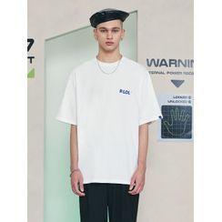 rolarola - [R:LOL] COUPLE Logo-Printed T-Shirt