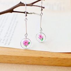 Nisen - Flower Resin Drop Earring