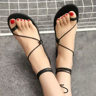 Shoeland - Lace-Up Sandals