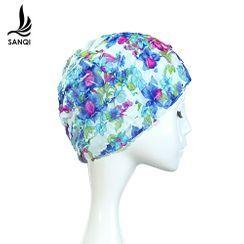 SANQI - Floral Print Swim Cap