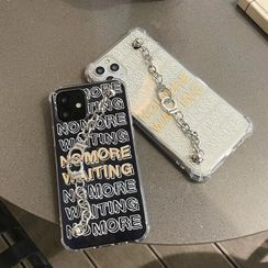 Rockit - Lettering Hand Chain Phone Case - iPhone 12 Pro Max / 12 Pro / 12 / 12 mini / 11 Pro Max / 11 Pro / 11 / SE / XS Max / XS / XR / X / SE 2 / 8 / 8 Plus / 7 / 7 Plus