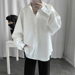 Soulcity - 纯色长袖衬衫