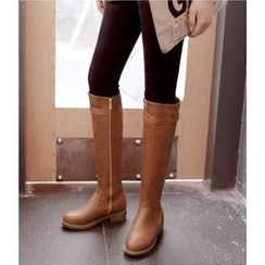 Freesia - Faux Leather Knee-high Boots