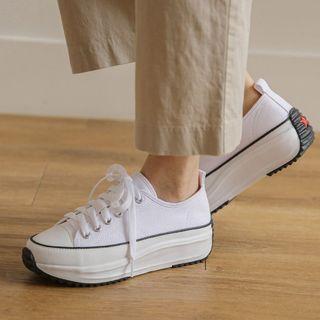 JUSTONE - Toe-Cap Platform Sneakers