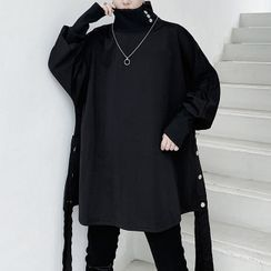 ANCHO(アンチョ) - Collared Oversize Pullover
