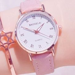 Teep - Faux-Leather Strap Watch