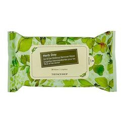 THE FACE SHOP - Herb Day Lip & Eye Makeup Remover Tissue