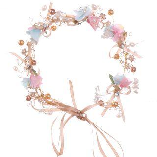 Tiaramanic - Kids Flower Ribbon Wedding Headpiece