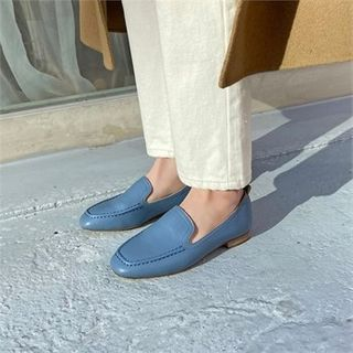 MONOBARBI - Stitched Pleather Loafers