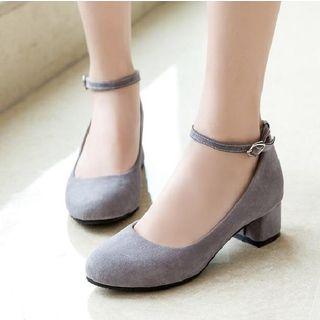 Freesia(フリージア) - Ankle Strap Block Heel Pumps