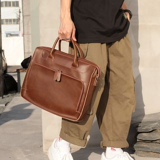 ETONWEAG - Faux-Leather Briefcase