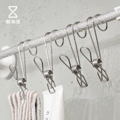 Lazy Corner - Set of 4: Stainless Steel Clothes Peg