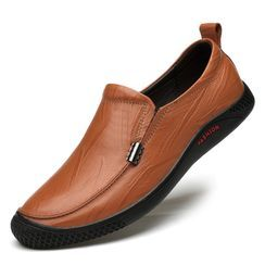 WeWolf - Genuine-Leather Round-Toe Casual Shoes