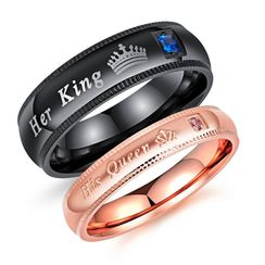 Tenri - Couple Matching Rhinestone Ring