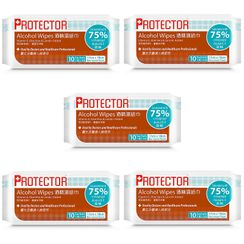 Advance Pharmaceutical - Protector Alcohol Wipes  (5 packs - each 10pcs)