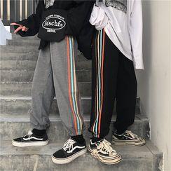 Malnia Home - 条纹运动裤