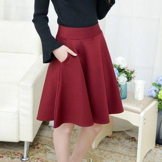 CHATNOIRE - Mini-jupe taille haute avec short intégré