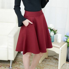 CHATNOIRE - High-Waist Mini Skirt With Inset Shorts